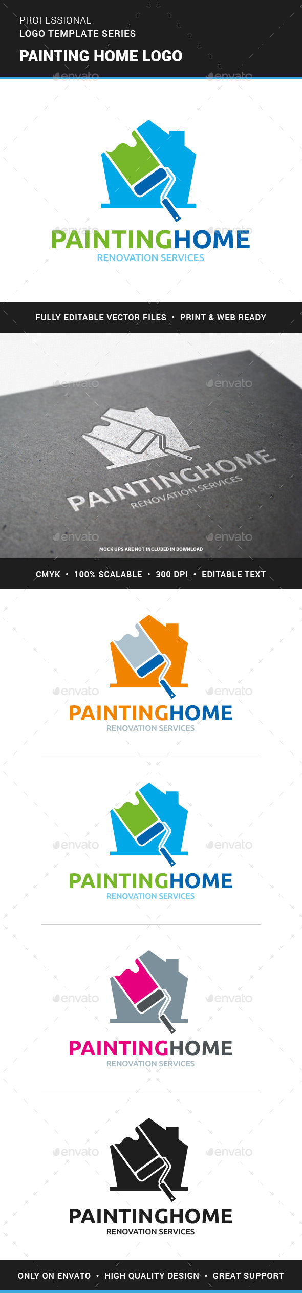 Painting Home Logo Template - Buildings Logo Templates