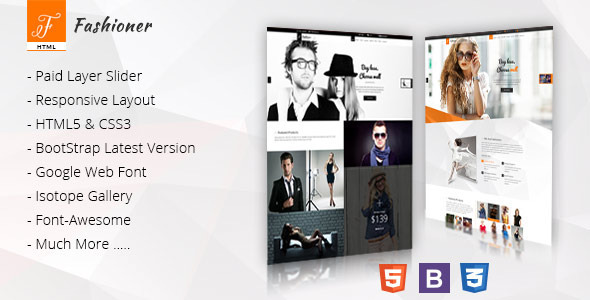 Fashioner - Multipurpose Fashion HTML5 Template
