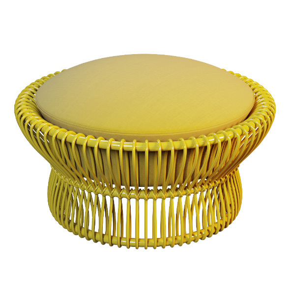 Outdoor rattan ottoman TAIKO of Property - 3DOcean Item for Sale