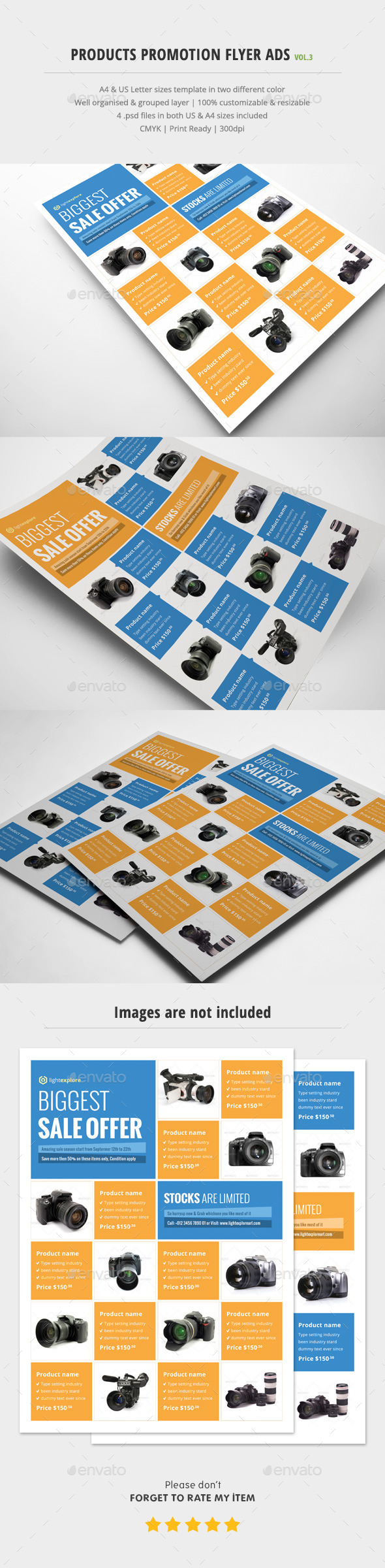 Product Promotion Flyer Ads Vol.3 - Commerce Flyers