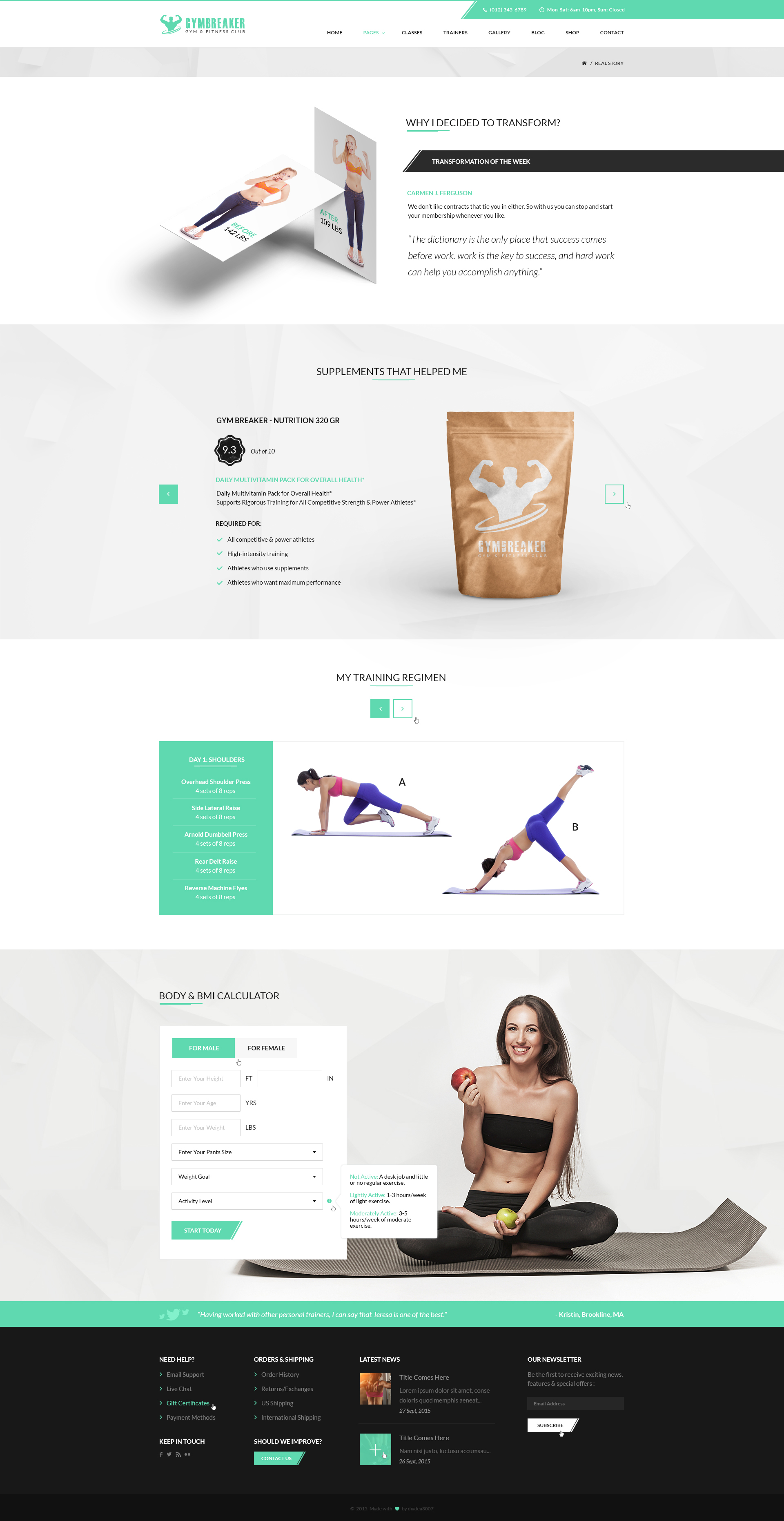 GymBreaker - Fitness & Gym PSD Template