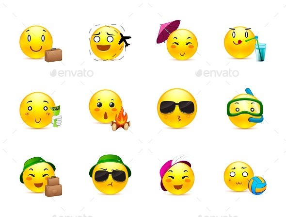 Anime Emoticons Knights and Vikings