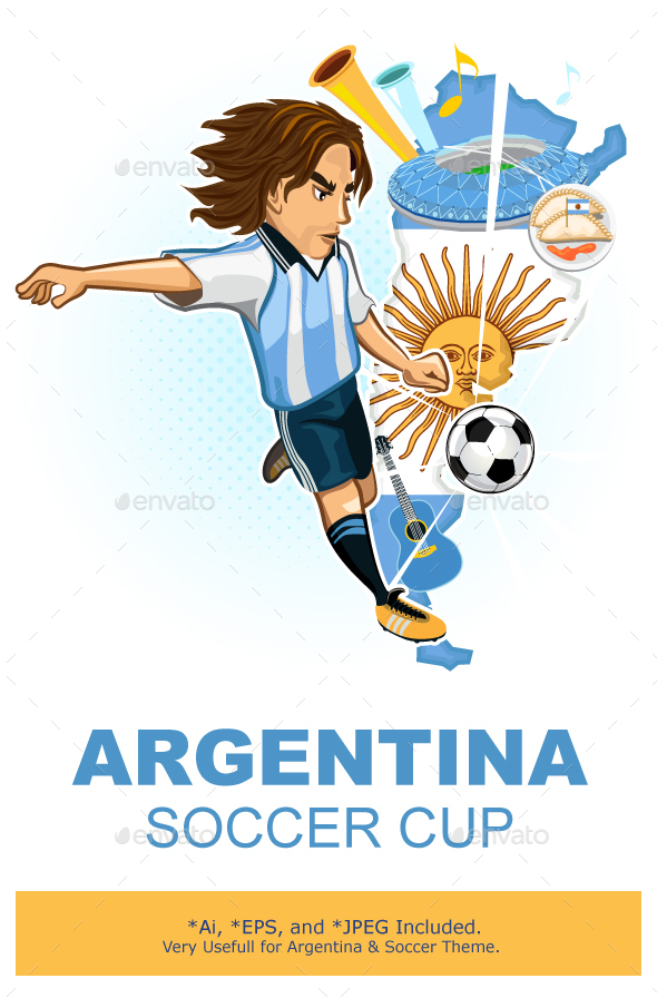 Argentine Argentina Soccer Cup  - Sports/Activity Conceptual
