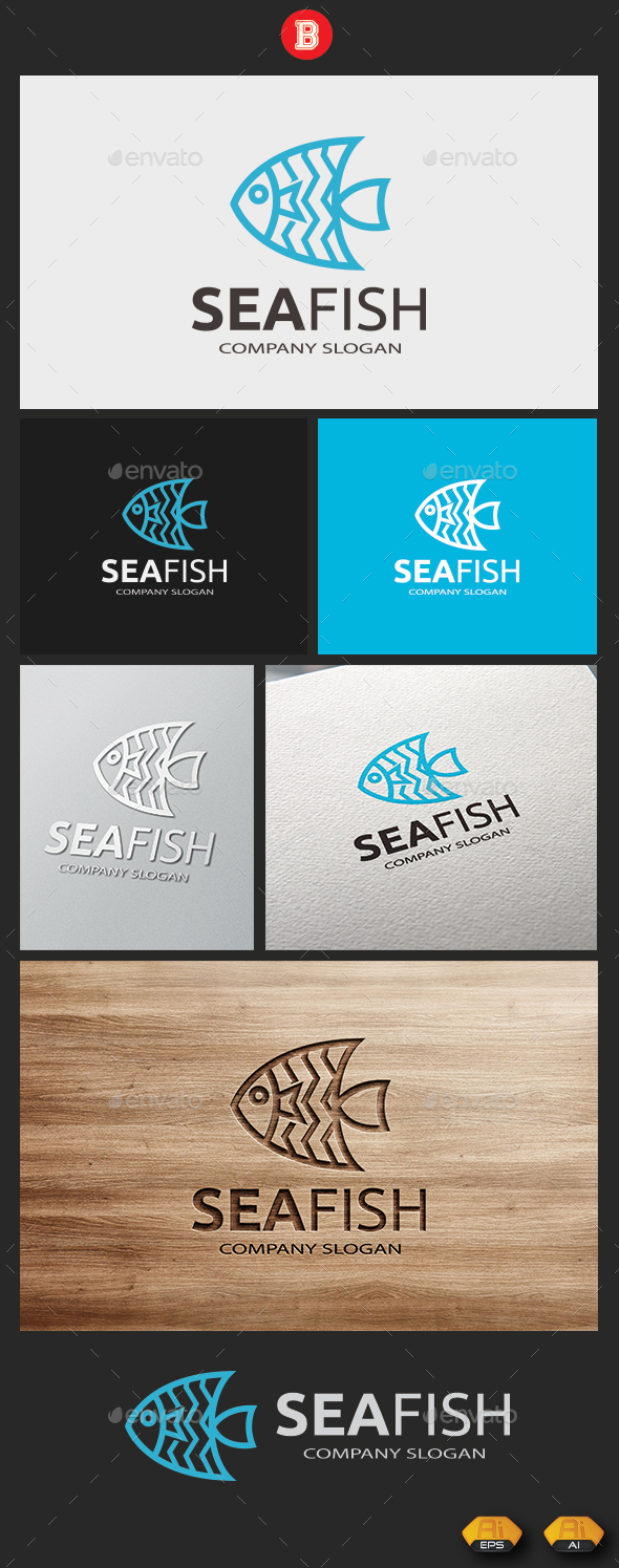 Sea Fish V.2 - Animals Logo Templates