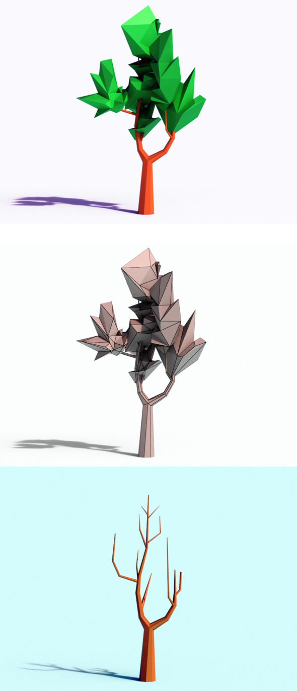 Beautiful Low Poly Tree - 3DOcean Item for Sale