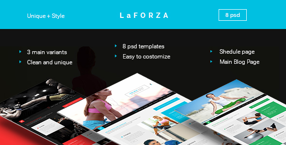 LaFORZA – Fitness, Yoga & Fight PSD