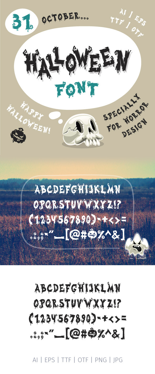 Halloween Font - Miscellaneous Decorative
