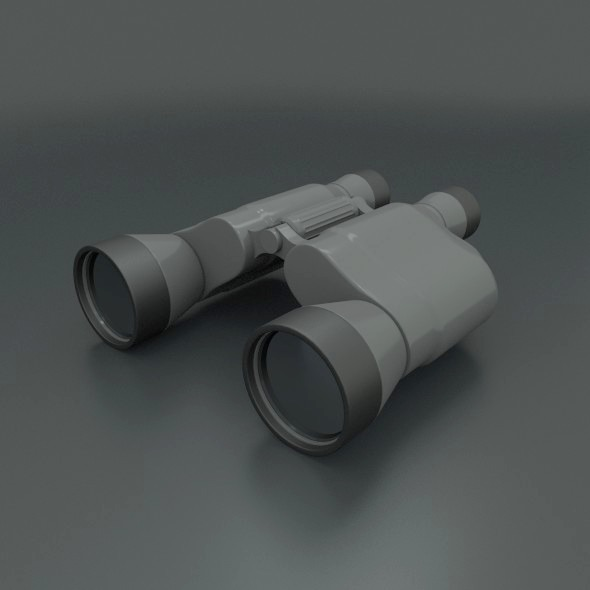 Binocular 3d model - 3DOcean Item for Sale