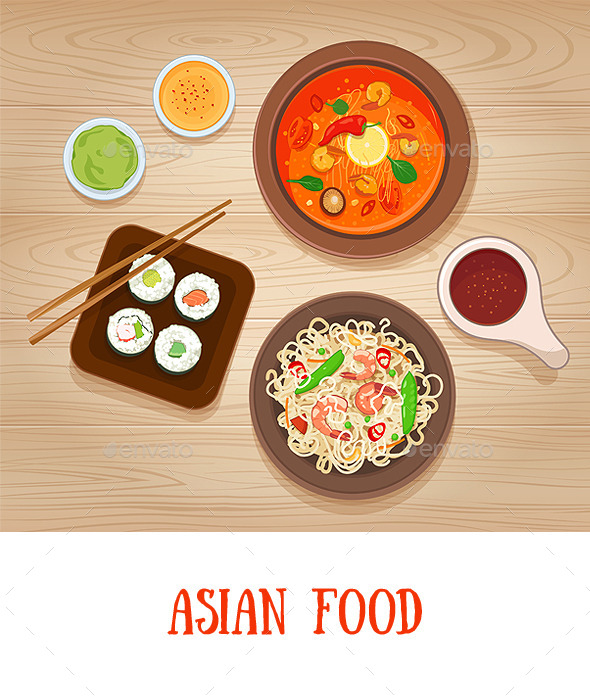 Asian Food - Food Objects