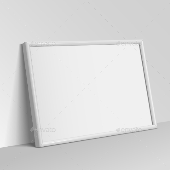 White Horizontal Frame For Paintings - Objects Vectors