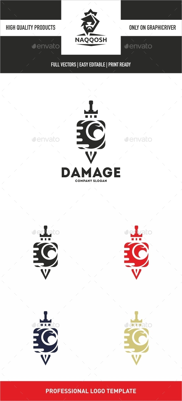 Damage - Symbols Logo Templates
