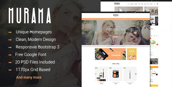 Hurama - Multipurpose eCommerce PSD Theme  - Retail PSD Templates