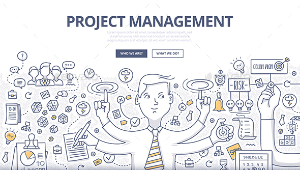 Project Management Doodle Concept - Concepts Business