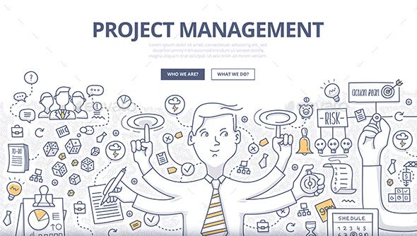 Project Management Doodle Concept