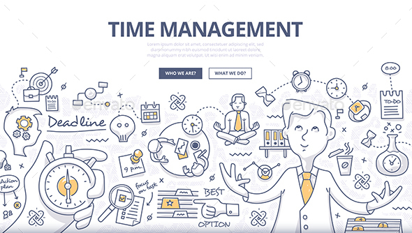 Time Management Doodle Concept - Concepts Business