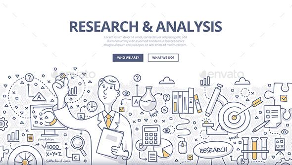 Research & Analysis Doodle Concept - Miscellaneous Conceptual