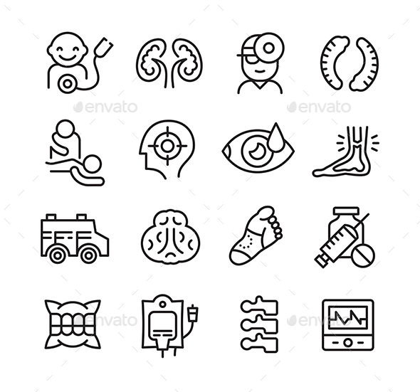 Icons Related to Different Branches of Medicine - Miscellaneous Icons