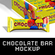 Chocolate / Protein Bar And Package Mockup - GraphicRiver Item for Sale