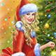Christmas Santa Woman - GraphicRiver Item for Sale