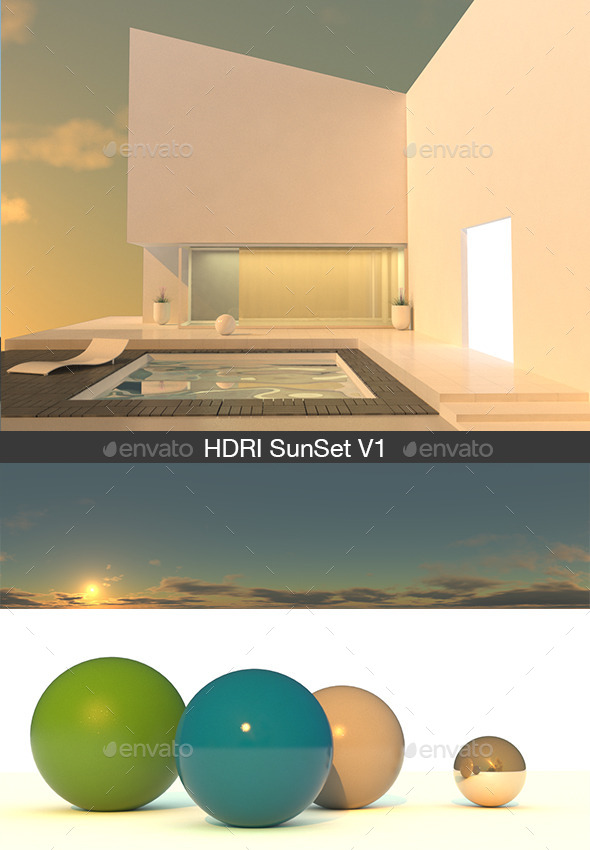 HDRI sunset V1