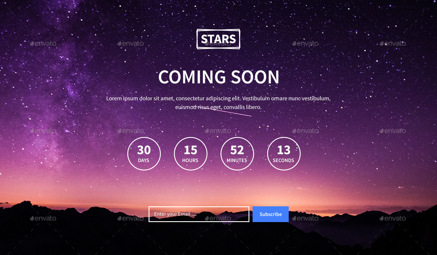 Stars Coming Soon Template