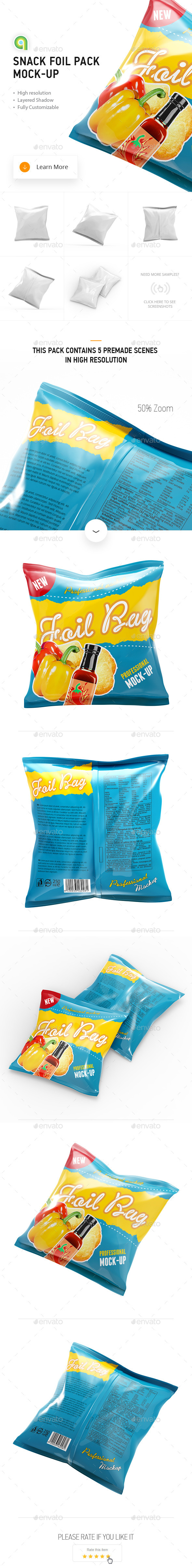 Snack Foil Pack Mock-up