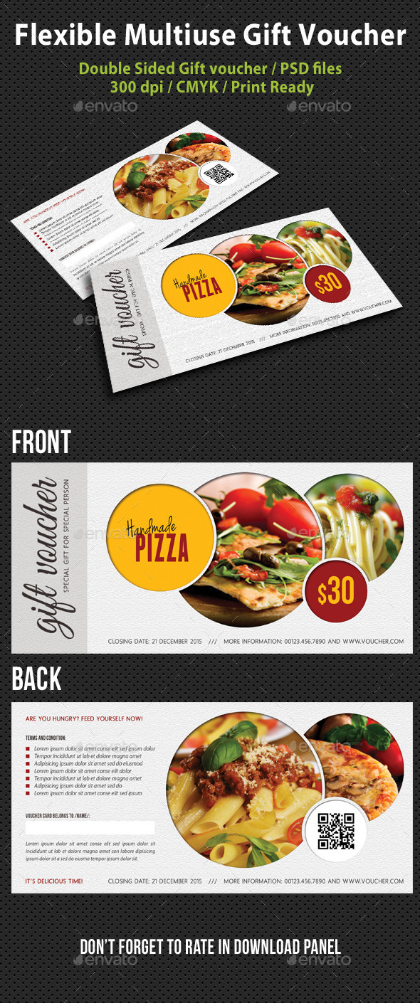 Flexible Multiuse Gift Voucher V05 - Cards & Invites Print Templates