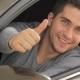Young Man Doing Thumps-up In Car - VideoHive Item for Sale