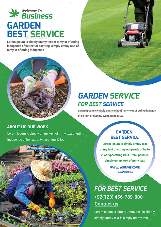 Garden services flyer template by afjamaal graphicriver for Gardening services
