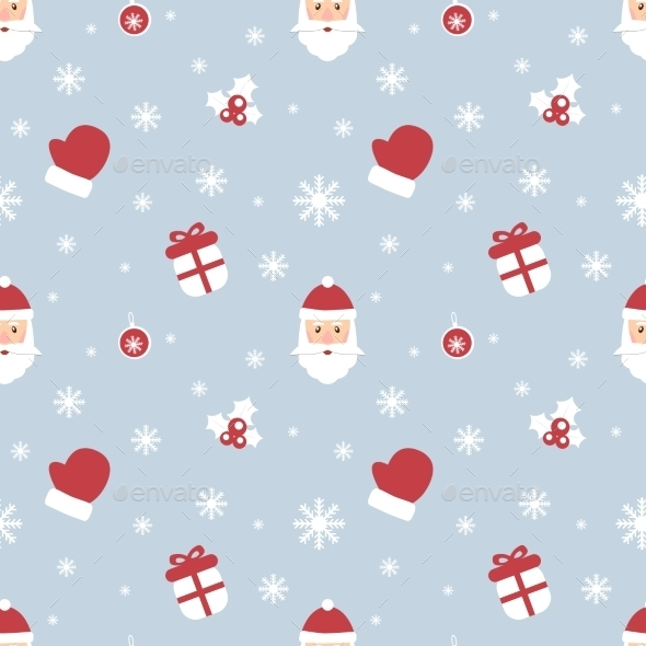 Seamless Christmas Pattern Scrapbook New Year