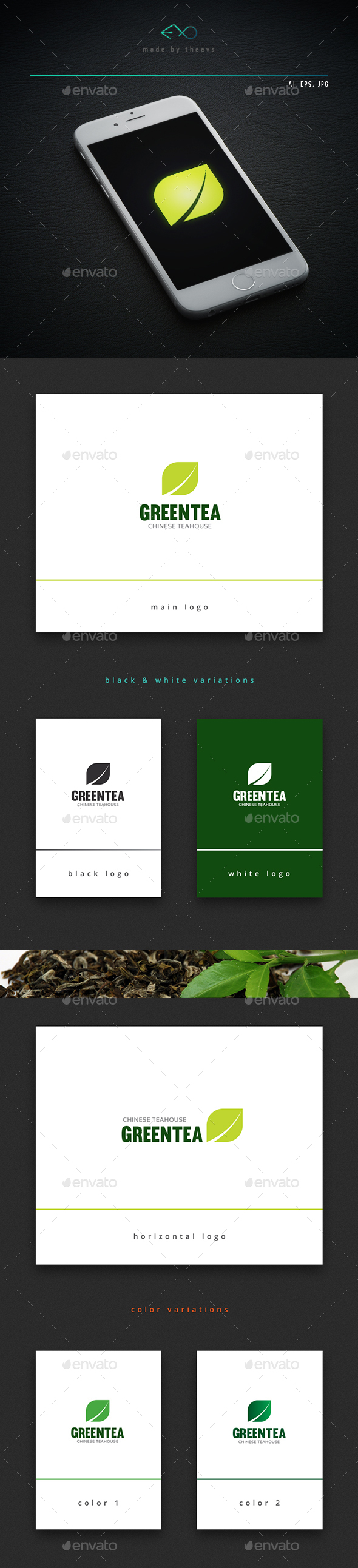 Greentea - Nature Logo Templates