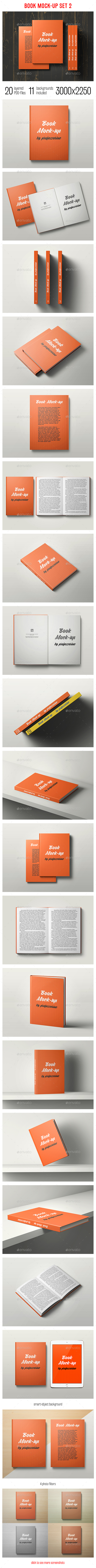 Book Mock-Up Set 2 - Books Print