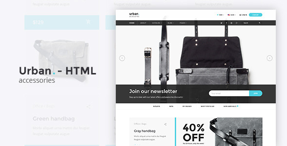 Urban Accessories – HTML E-Commerce Template