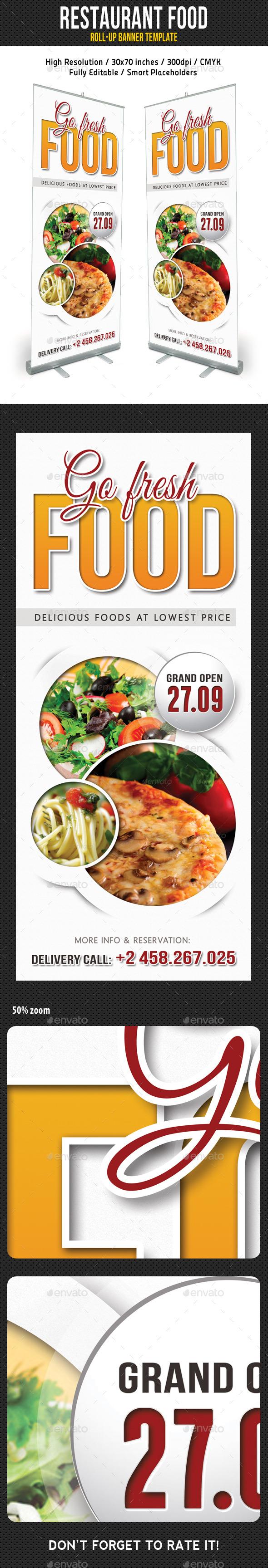 Restaurant Food Banner - Signage Print Templates