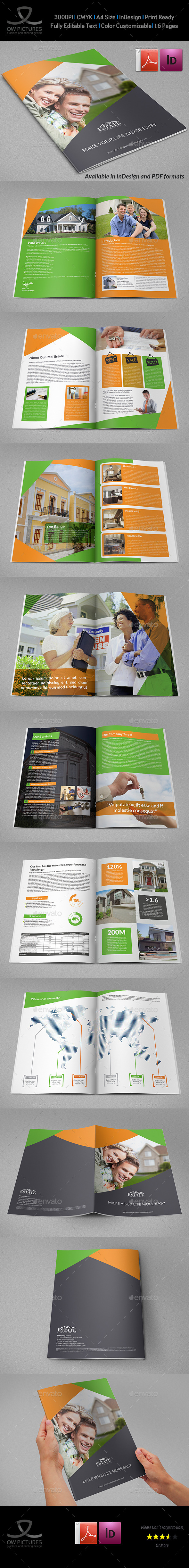 Real Estate Brochure Template - 16 Pages - Brochures Print Templates