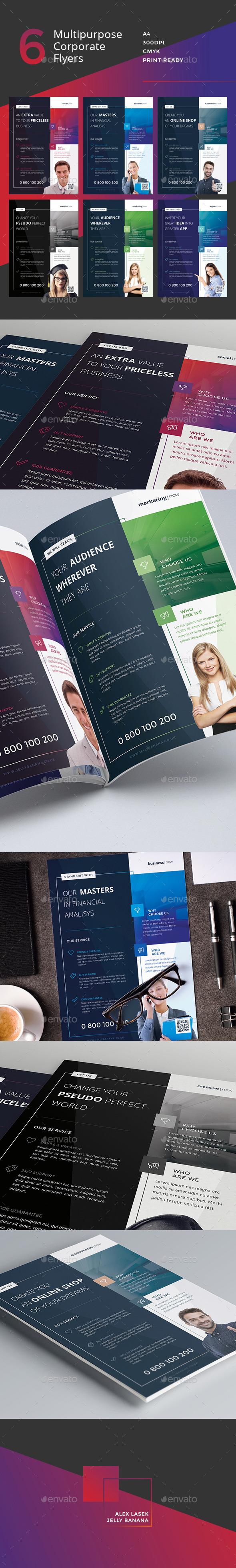 Corporate Flyer - 6 Multipurpose Business Templates vol 2 - Corporate Flyers