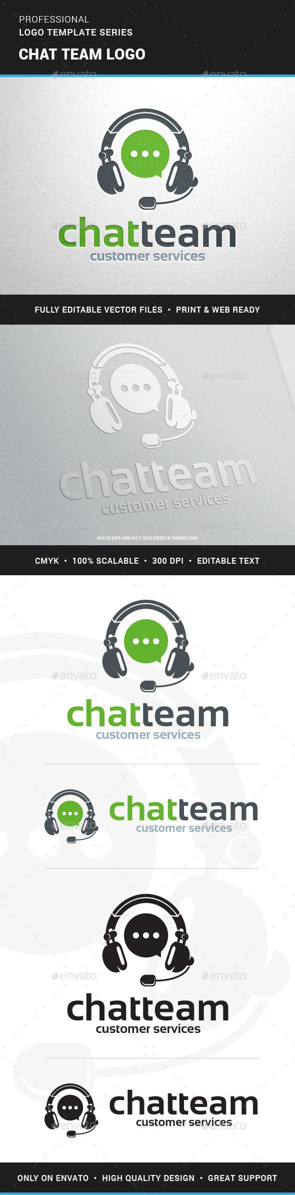 Chat Team Logo Template - Objects Logo Templates