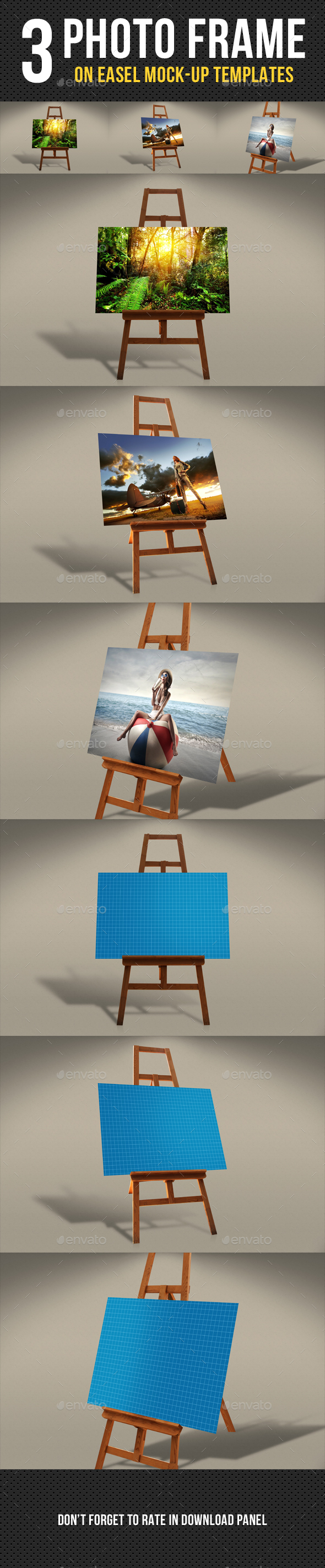 Photo Frame On Easel Mock-Up