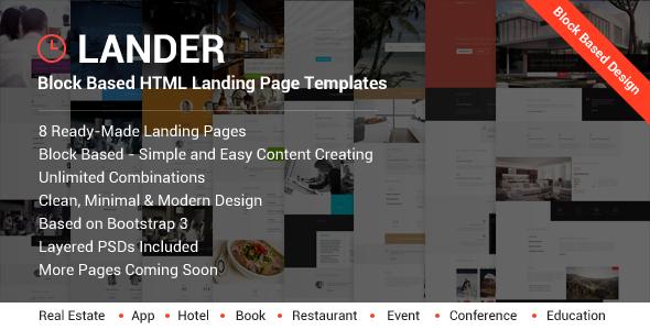 Lander – Landing Page HTML Templates