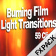 Burning Film Clips & Light Transitions - VideoHive Item for Sale