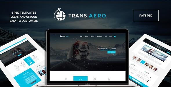 TransAero – Transport & Logistics PSD Template