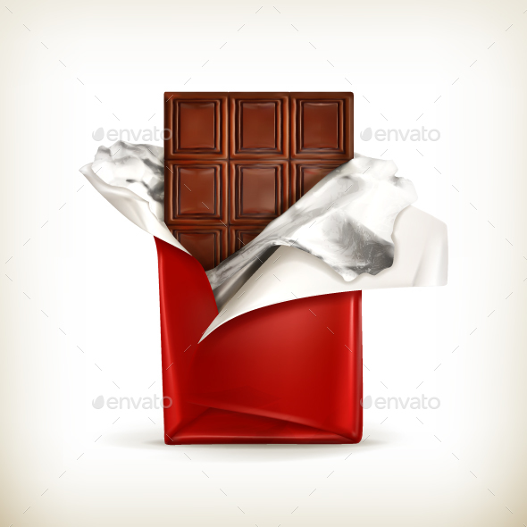 Chocolate Bar in Foil - Food Objects