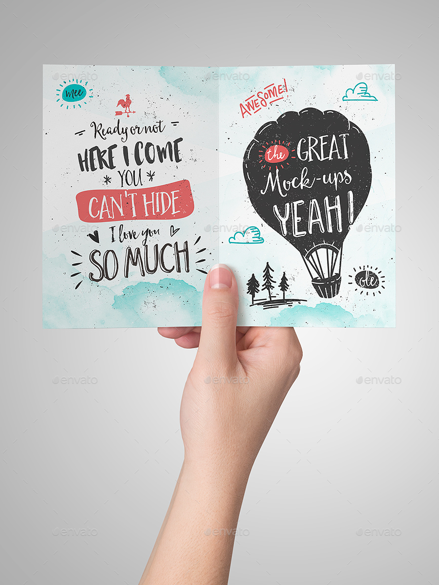 Invitation greeting card mock up by punedesign graphicriver invitation greeting card mock up stopboris Choice Image