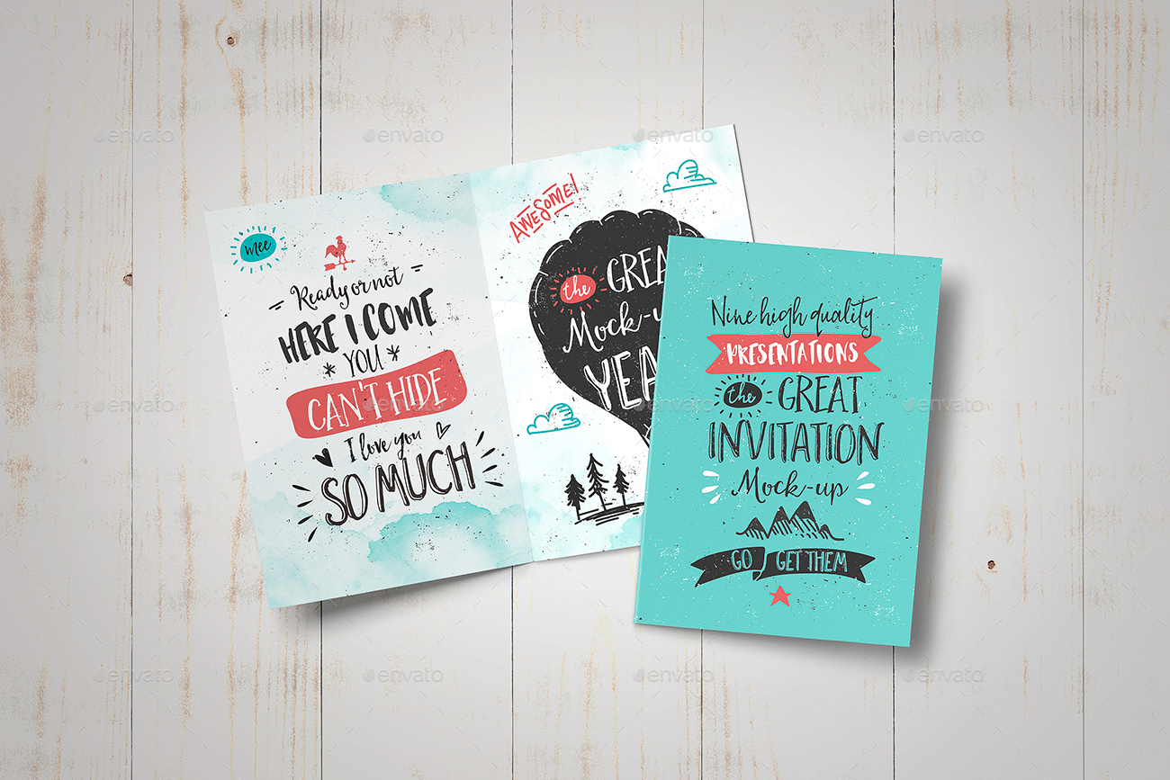 Invitation Greeting Card Mock Up By Punedesign Graphicriver