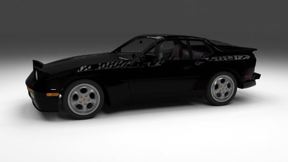 Porsche 944 turbo with interior - 3DOcean Item for Sale