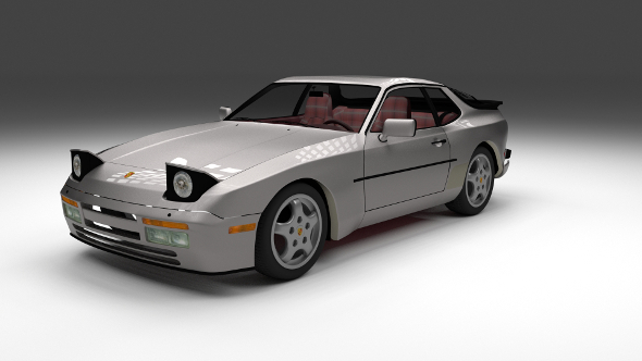 Porsche 944 Turbo S with interior - 3DOcean Item for Sale