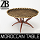 Moroccan Tray Table - 3DOcean Item for Sale