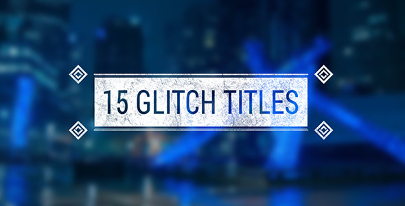 Geometric Glitch Titles