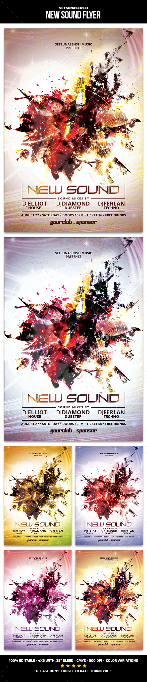 New Sound Flyer - Clubs & Parties Events