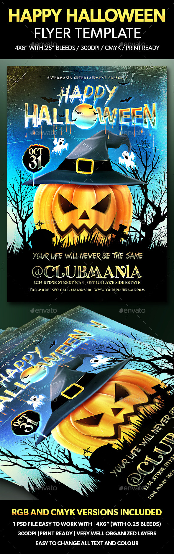 Happy Halloween Flyer Template - Flyers Print Templates